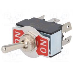 Conmutador  de palanca R1328B01 DPDT  ON-ON  20A/12VDC