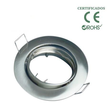 Aro empotrable aluminio oscilante redondo Niquel. Mod. 346NK