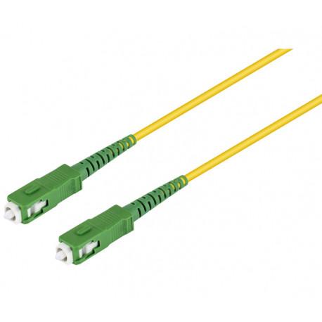 Conexión fibra óptica para datos SC-SC, monomodo simplex.