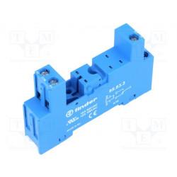 Zócalo PIN:8 10A 250VCA Montaje DIN Finder. Mod. 95.83.3