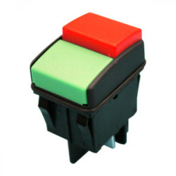 Interruptor 2 teclas verde / rojo ON / OFF 16A. Mod. 11.414.I/NRV