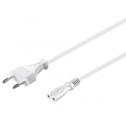 "Cable de red Europa a tipo ""8""  BLANCO"