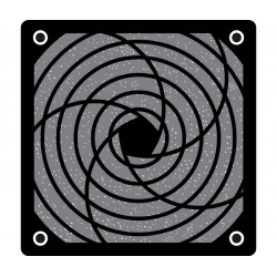 Rejilla para ventiladores con filtro 120X120. Mod. RJV012