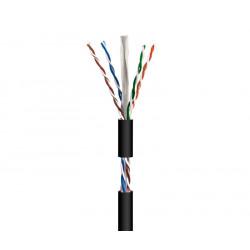 Cable para datos UTP Cat.6 rígido exterior, 100m. Mod. WIR9048
