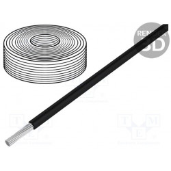 Cable SiF cuerda Cu 1,5mm2 silicona negro -60÷180°C 500V. Mod. SIF1.50-B