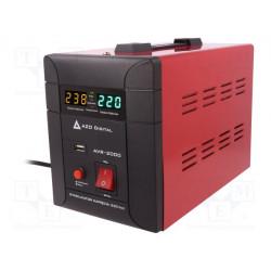 Alimentador estabilizador de pulso 250x140x175mm 2000VA IP21. Mod. AVR-2000