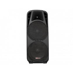 "Caja activa. 2x15"" woofer + driver 1.3"". Amplif. 600W. USB/SD. Mod. MBS 1215/2A"