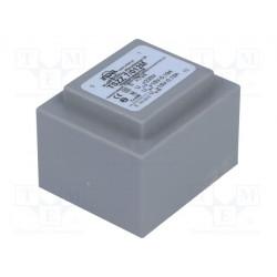 Transformador cerrado 7VA 230VCA 2X18V 0,19A IP00. Mod. TSZZ6/2X18V