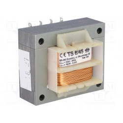Transformador de red 8VA 230VCA 18V 0,35A IP00 Sal para C.I. Mod. TS8/45
