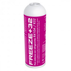 Botella gas refrigerante orgánico R410A R32. Mod. FREEZE+32