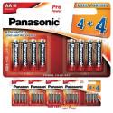 Pack de pilas alcalinas Panasonic LR6PPG8 Pro Power