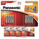 Pack de pilas alcalinas AAA Panasonic LR03PPG8 Pro Power