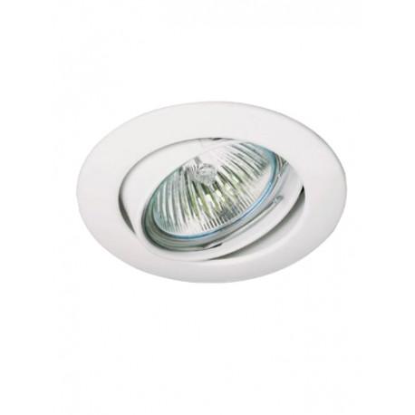 Aro empotrable aluminio oscilante redondo 50 mm Blanco. Mod. 308BL
