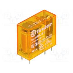 Relé electromagnético FINDER SPDT 230VCA 10A/250VAC 28kΩ. Mod. 40.31.8.230.0000