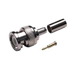 Conector B.N.C. Crimp casquillo suelto RG-59/RG-62. Pin dorado. Mod. 1404