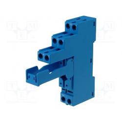Zócalo 10A 250VCA Montaje DIN agarres de tornillo. Mod. 95.05SPA