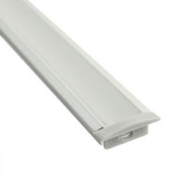 Kit perfil de aluminio empotrar con faldón 1metro. Mod. 81.082