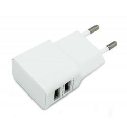 CARGADOR DOBLE USB 2A-1A BIWOND. Mod. CDUSB