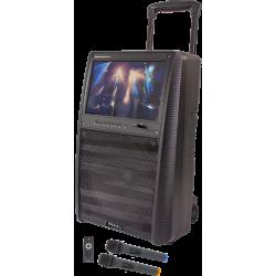 Altavoz con monitor TFT y 2 micrófonos inalambricos IBIZA SOUND. Mod. PORT-TFT 12