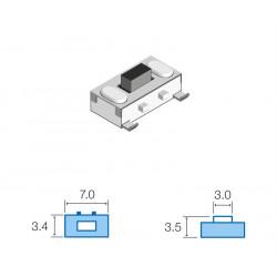 Pulsador de tacto SMD 3,4x7,0mm. Mod. SW029
