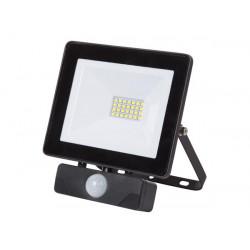 PROYECTOR LED C/ SENSOR PARA EXTERIORES 20 W BLANCO NEUTRO. MOD. LEDA6002NW-BP