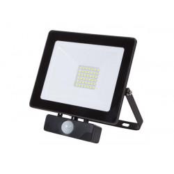 PROYECTOR LED C/ SENSOR PARA EXTERIORES 30 W BLANCO NEUTRO. MOD. LEDA6003NW-BP