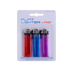 Blister 3 mecheros en colores diferentes transparentes PROF. Mod. 40009474