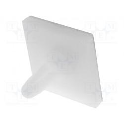 Distanciador PCB poliámido 4,8mm adhesivo clip UL94V-2. Mod. RI-LCBSB-3-01A