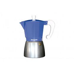 Cafetera Italiana 12 tazas Azul Eléctrico Bastilipo. Mod. COLORI-12-AUL