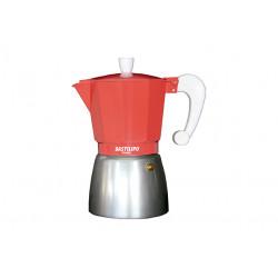 Cafetera Italiana 9 tazas coral Bastilipo. Mod. COLORI-9-CORAL