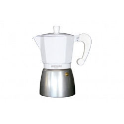 Cafetera Italiana 9 tazas blanca Bastilipo. Mod. COLORI-9-BLANCA