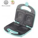 Sandwichera 780 W Aluminio Plástico Verde Agua BASTILIPO. MOD. SW-780V