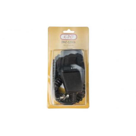 Micrófono para emisora 4 pins compatible President y Cobra. Mod. DMC-520P4