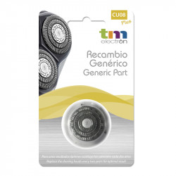 Cabezal de afeitado compatible Philips Quadra Action y las series 6000 y 600. Mod. CU08 Plus