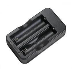 Cargador de baterías 18650 Li-Ion x2. Mod. REP059